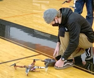 Students at Harbor Springs High School are getting potential career jumpstarts with a drone technology class offered by teacher Rob LaPoint. LaPoint started the class four years ago as an introduction to piloting technology; the class is now on its way to becoming a state certified Career Technology Education (CTE) program. (Courtesy photo)