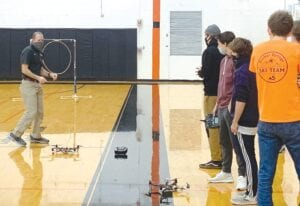 """Harbor Springs teacher Rob LaPoint is a leader in the state for drone technology classes, and has been continually pushing beyond just """"STEM"""" curriculum with students, providing real world insights into the current and future professional applications of drone technology. (Courtesy photo)"""